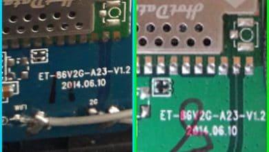 تصویر از فایل فلش et-86v2g-a23-v1.2 برای برد های سبز و آبی تست شده و بدون مشکل
