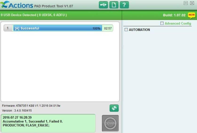 آموزش برنامه Pad Product Tool و فلش تبلت atm