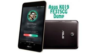 فایل دامپ Dump Asus K019 FE375CG Fonepad 7 برای ترمیم بوت و پروگرام هارد