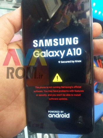 The Phone is not running Samsung`s official software. You may have problems...