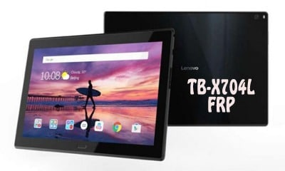 فایل و آموزش حذف FRP Lenovo TB-X704L تبلت Tab 4 10 Plus | پاک کردن قفل گوگل اکانت تبلت لنوو Tab 4 10 Plus TB-X704L با آموزش ساده