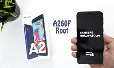فایل روت سامسونگ A260F اندروید 8.1.0 تست شده و 100% تصمینی | دانلود فایل و آموزش Root گوشی سامسونگ Galaxy A2 Core SM-A260F تست شده